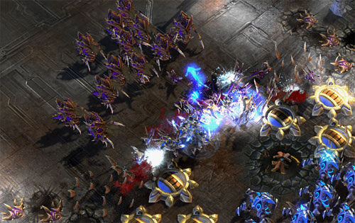 battle zerg and protoss